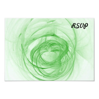 Fractal Beautiful White And Green Personalized Announcement