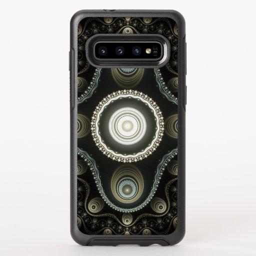 Fractal Beige Blue OtterBox Symmetry Samsung Galaxy S10 Case