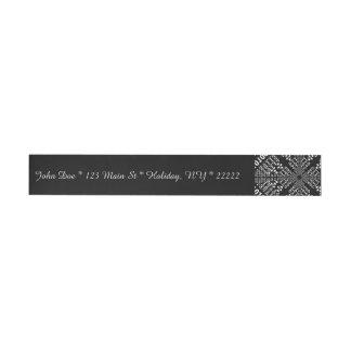 Fractal binario negro y blanco pegatinas postales