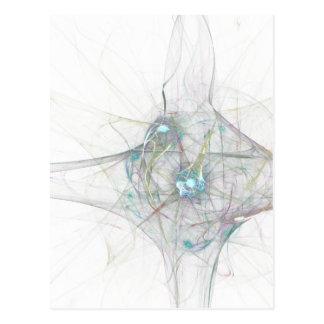 fractal bing bang. abstract atomium universe postcard