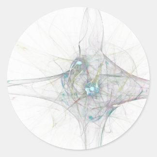 fractal bing bang. abstract atomium universe stickers