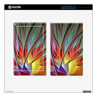 Fractal Bird of Paradise Kindle Fire Decals