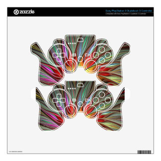 Fractal Bird of Paradise Skin For PS3 Controller