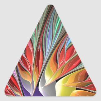 Fractal Bird of Paradise Triangle Sticker