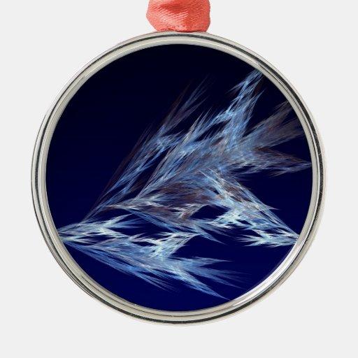 Fractal - Birds in Flight Round Metal Christmas Ornament