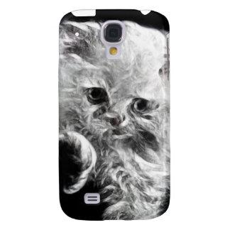 Fractal blanco iPhone3G de la acuarela del gato pe