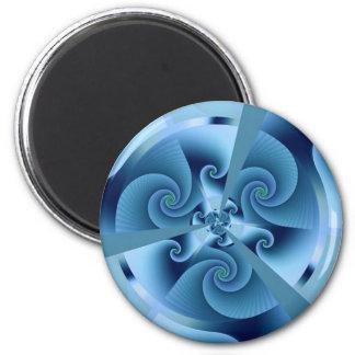 Fractal Blue Accordion Refrigerator Magnets