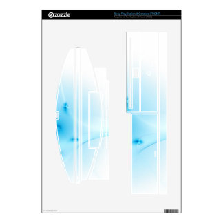 Fractal Blue Cross Decals For The PS3