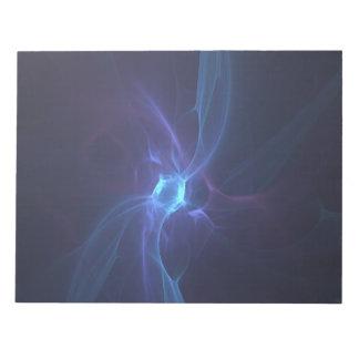 Fractal Blue diamond Notepad