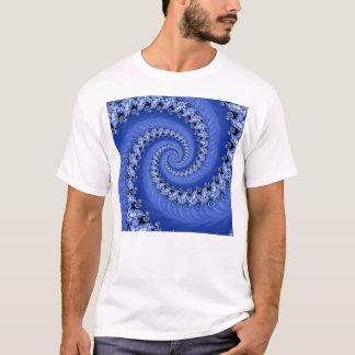 Fractal Blue Double Spiral Shirt