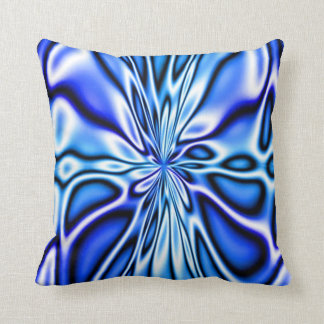 Fractal Blue Floral Bloom Mojo Pillow