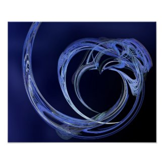 Fractal Blue Heart
