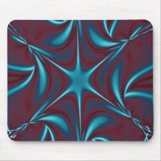 Fractal Blue Raspberry Starflower Mouse Pad