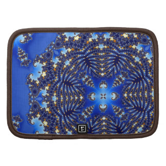 Fractal Blue Snowflake Folio Planner