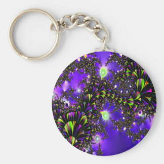 Fractal Blue Stairway to Heaven Key Chains