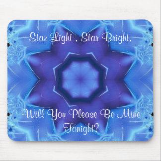Fractal Blue Star Mousepad