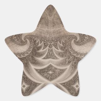Fractal bosquejado 13 pegatina en forma de estrella