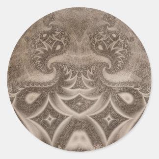 Fractal bosquejado 13 pegatina redonda