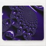 Fractal brillante elegante de la lavanda alfombrilla de raton