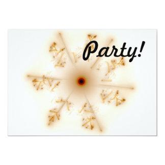 Fractal Brown Star 5x7 Paper Invitation Card