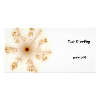 Fractal Brown Star Photo Cards