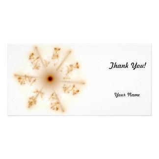 Fractal Brown Star Custom Photo Card