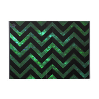 Fractal burbujeante verde Chevron iPad Mini Fundas