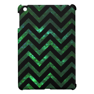 Fractal burbujeante verde Chevron iPad Mini Funda