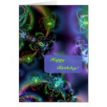 Fractal Butterflies Happy Birthday Card at Zazzle