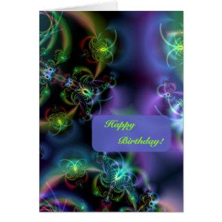Fractal Butterflies Happy Birthday Card