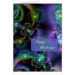 Fractal Butterflies Happy Birthday Greeting Card