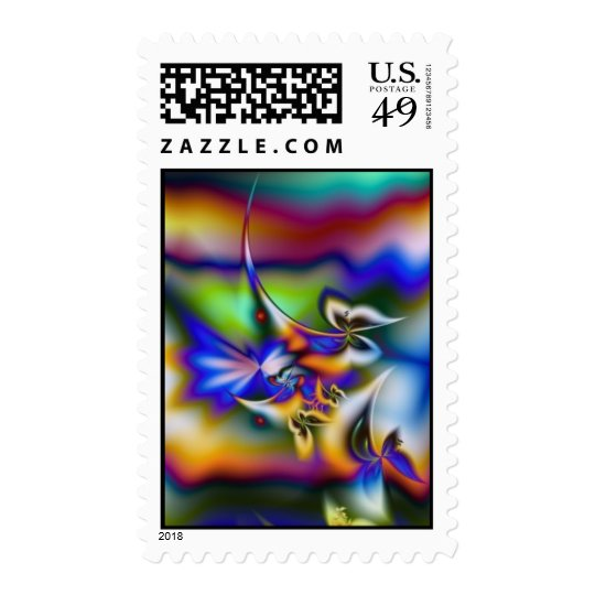 Fractal Butterfly Fantasy Postage