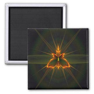 Fractal Butterfly on Black Background Magnet