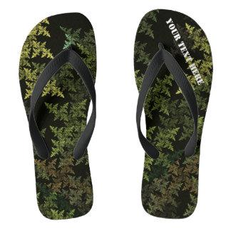 Fractal Camouflage Flip Flops