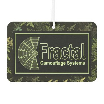 Professional Business Fractal Camouflage Systems Logo Air Freshener