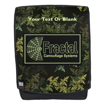Professional Business Fractal Camouflage Systems Logo Backpack