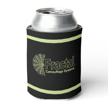 Professional Business Fractal Camouflage Systems Logo Can Cooler