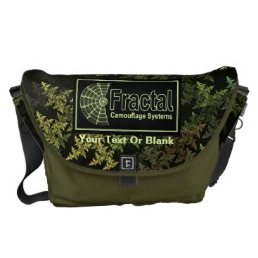 Professional Business Fractal Camouflage Systems Logo Courier Bag