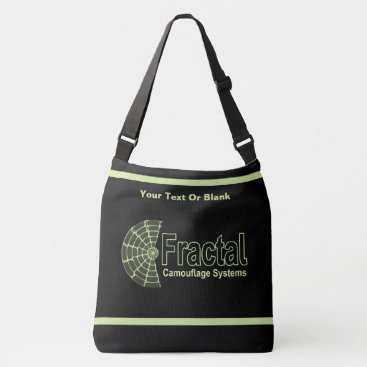 Professional Business Fractal Camouflage Systems Logo Crossbody Bag