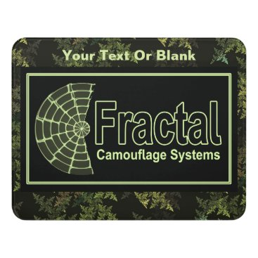 Professional Business Fractal Camouflage Systems Logo Door Sign