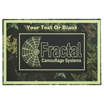 Professional Business Fractal Camouflage Systems Logo Doormat
