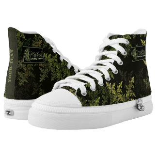Fractal Camouflage Systems Logo High-Top Sneakers