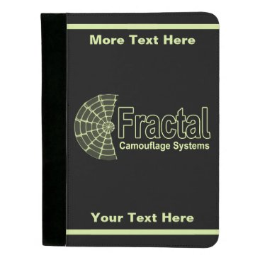Professional Business Fractal Camouflage Systems Logo Padfolio