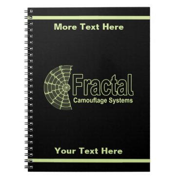 Professional Business Fractal Camouflage Systems Logo Spiral Notebook