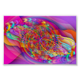 Fractal Candy Sky Abstract Art Print