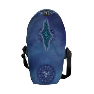 Fractal canvas messenger bags