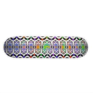Fractal Carnival Colors Skateboard Deck