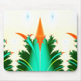 fractal carrot corn mouse pad