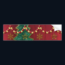 Fractal Celebration Christmas Bumper Sticker