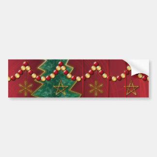 Fractal Celebration Christmas Bumper Sticker